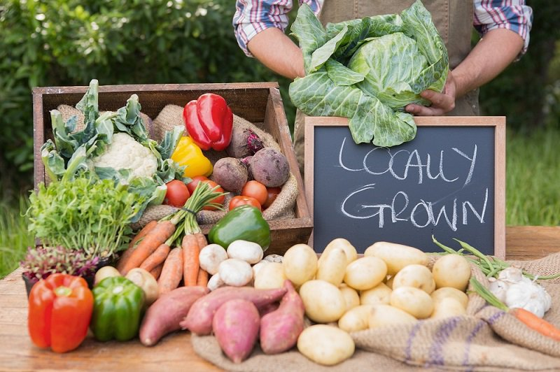 Locally grown - the freshest produce in the region