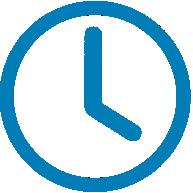 Blue Clock Illustration